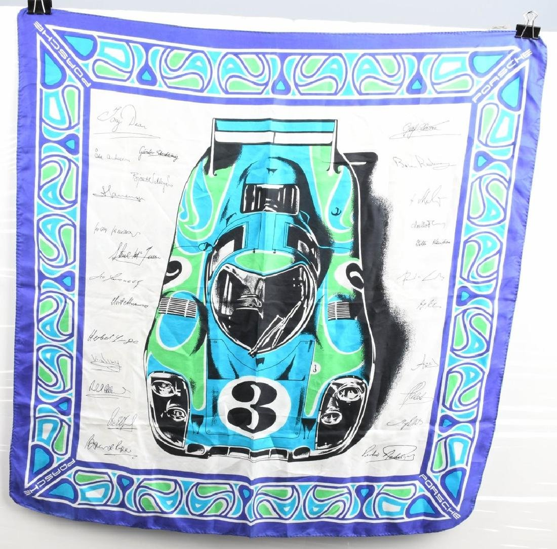 2- 1960s PORSCHE SILK LADIES SCARFS