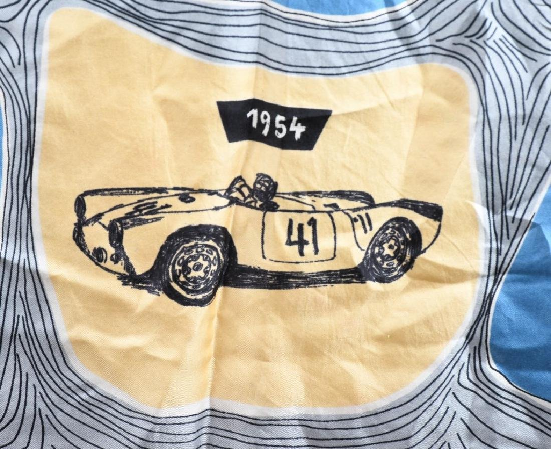 2- 1960s PORSCHE SILK LADIES SCARFS - 6