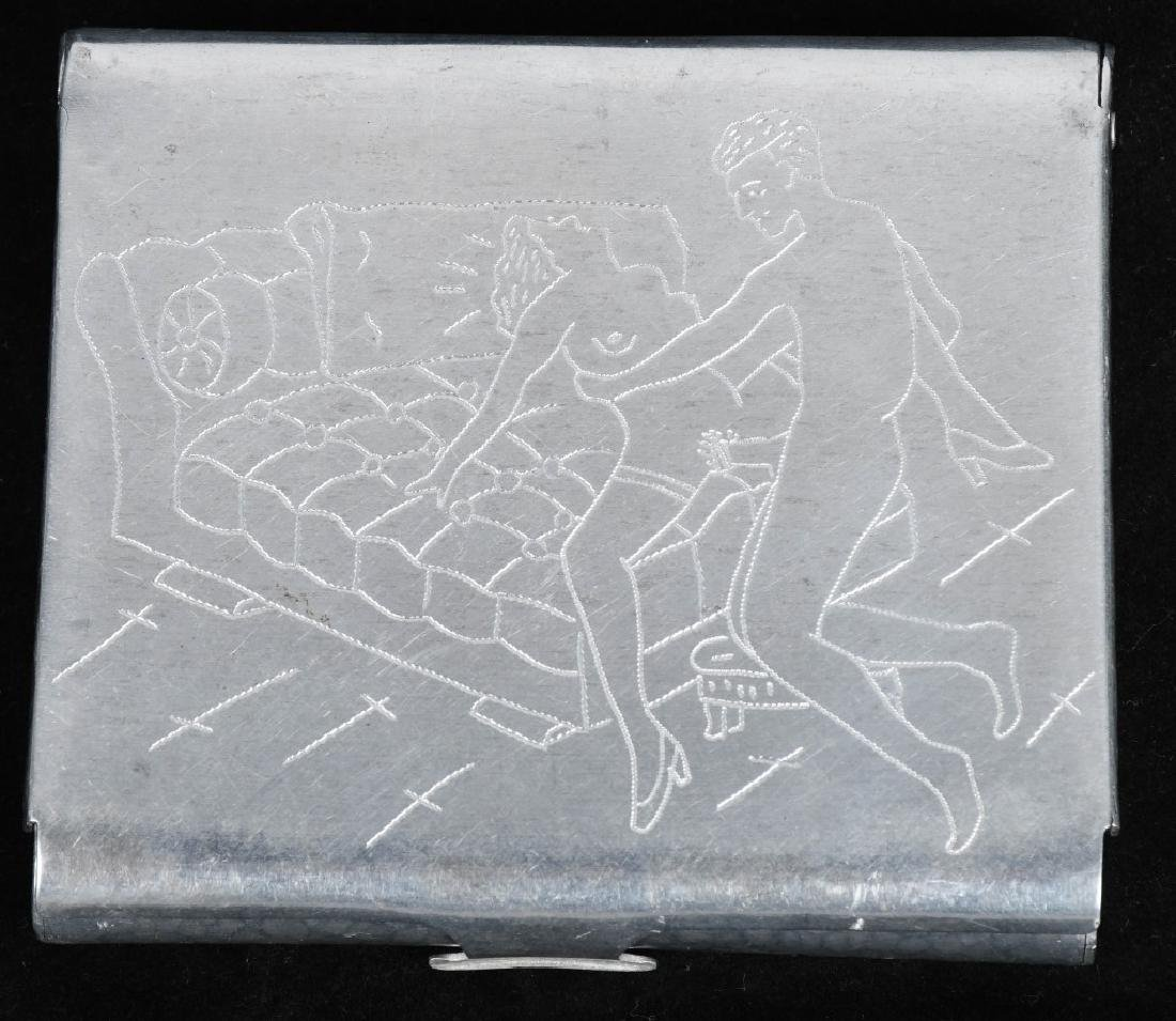VINTAGE CIGARETTE CASE w/ EROTIC SEX SCENE