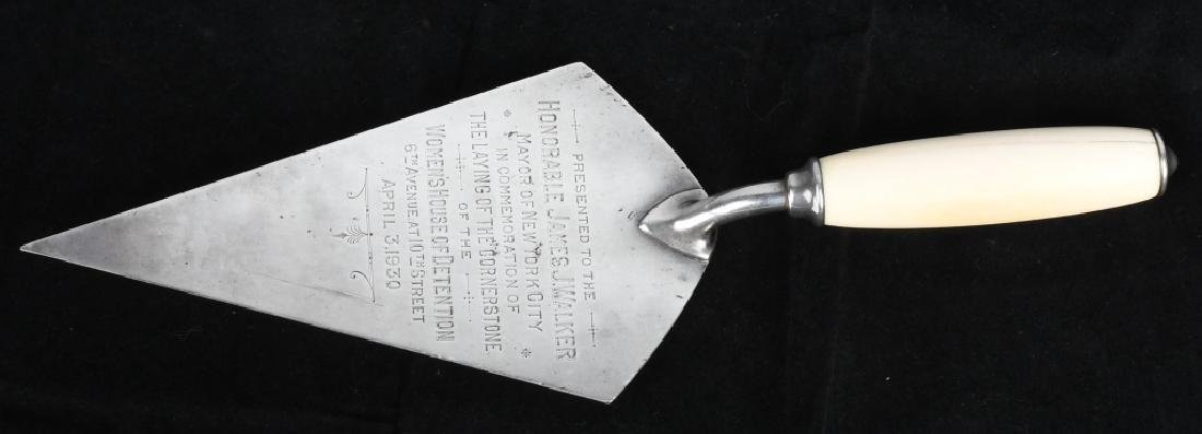 1930 NY MAYOR JAMES WALKER PRESENTATION TROWEL