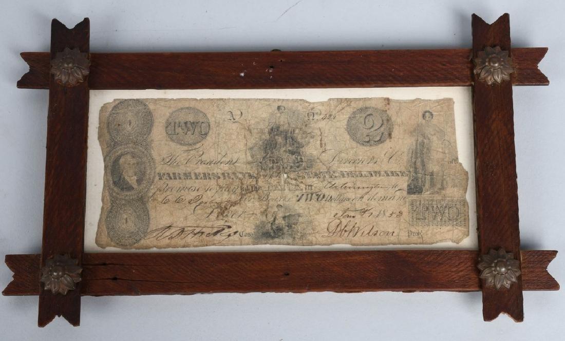 ORIGINAL 1852 FARMERS $2 BILL
