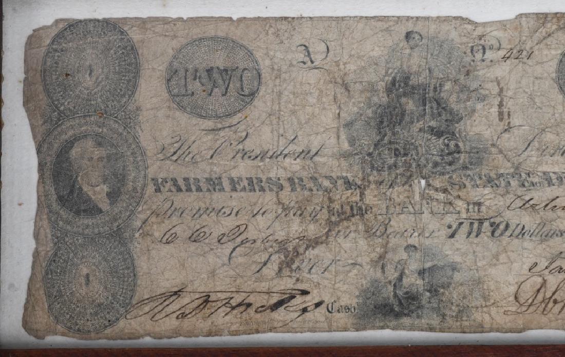 ORIGINAL 1852 FARMERS $2 BILL - 2