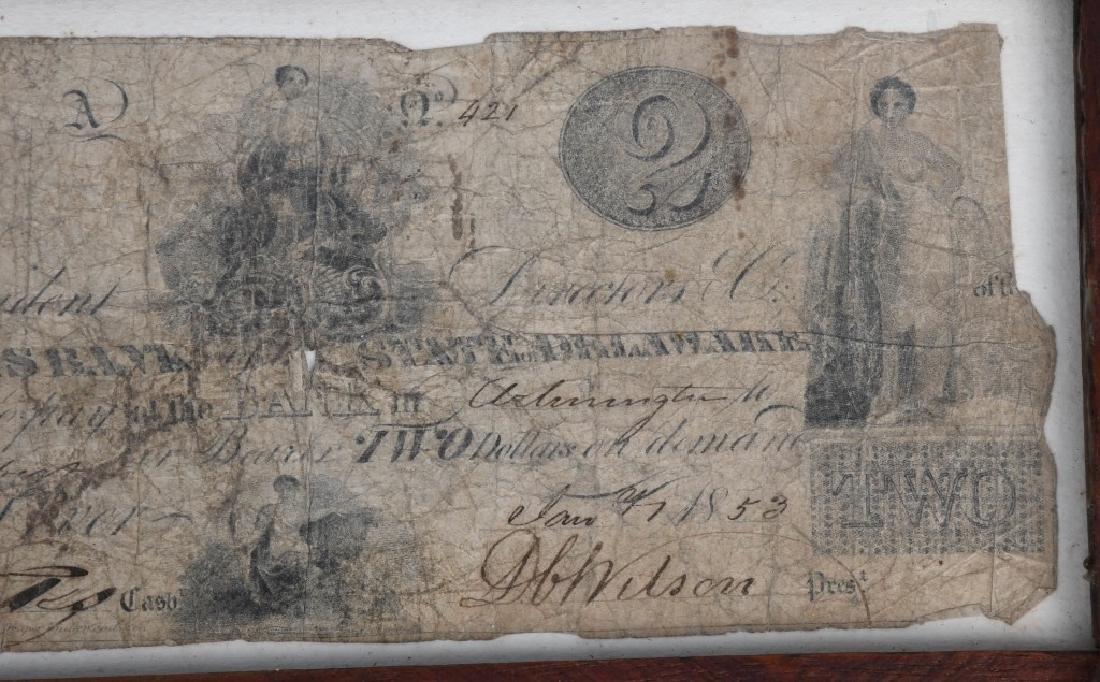 ORIGINAL 1852 FARMERS $2 BILL - 3