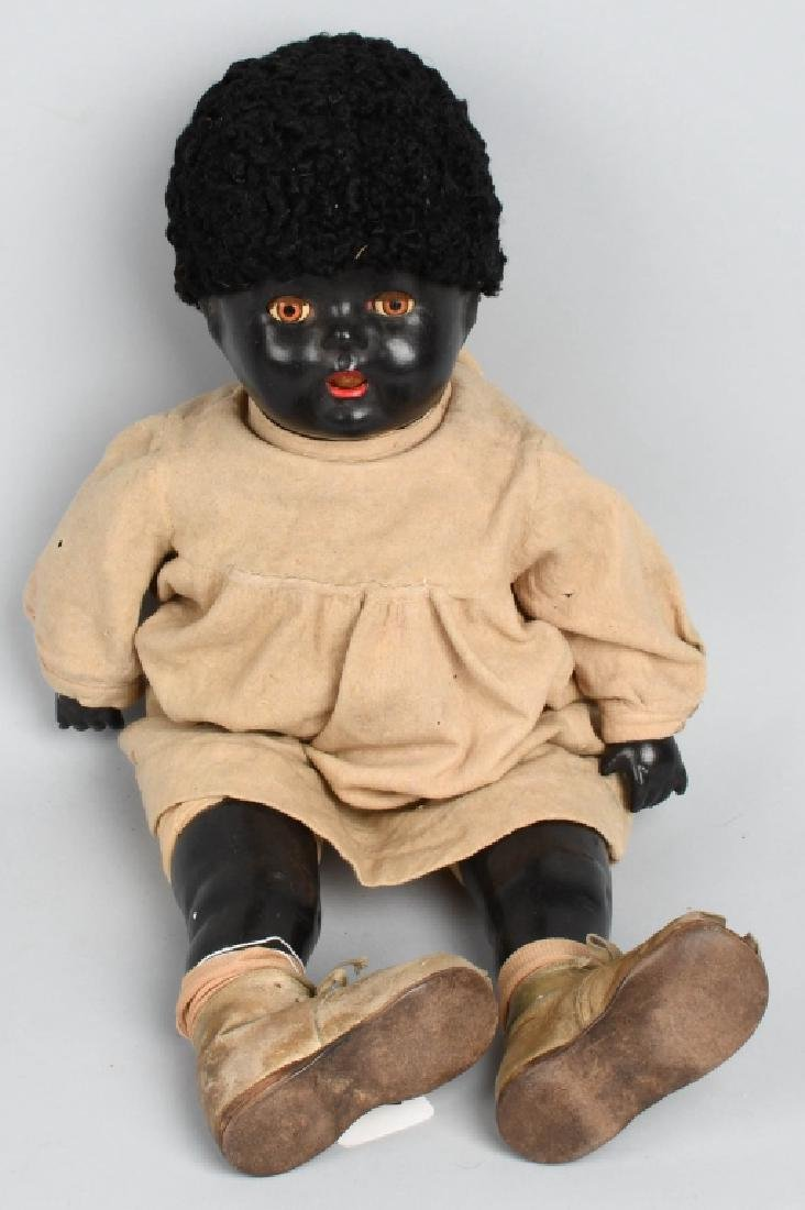 "24"" BLACK COMPOSITION DOLL"