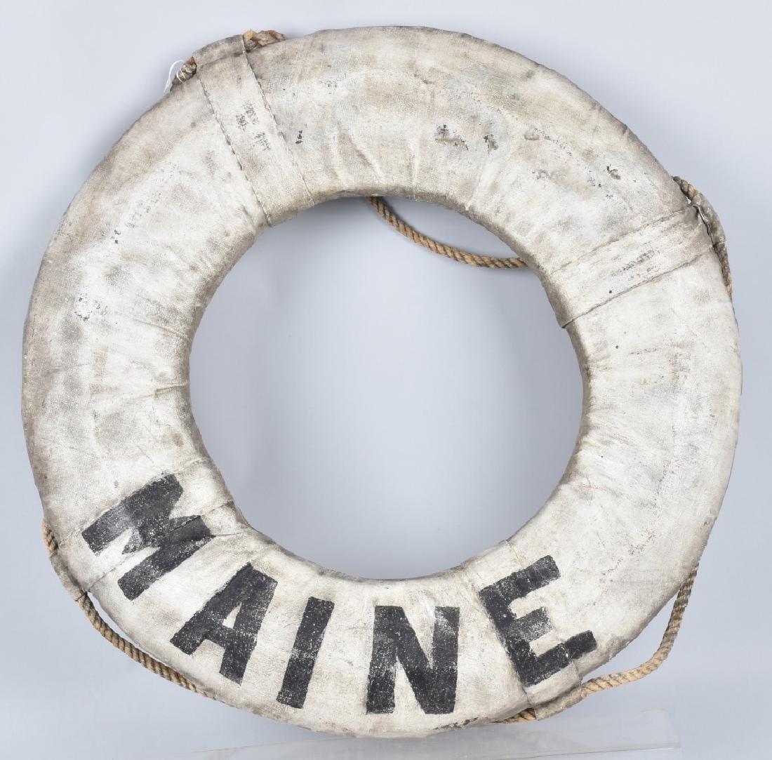 USS MAINE LIFE PRESERVER RING