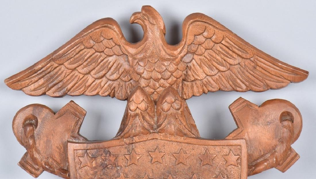 CARVED WOOD NAVY SYMBOL SUBIC BAY 1967 - 2
