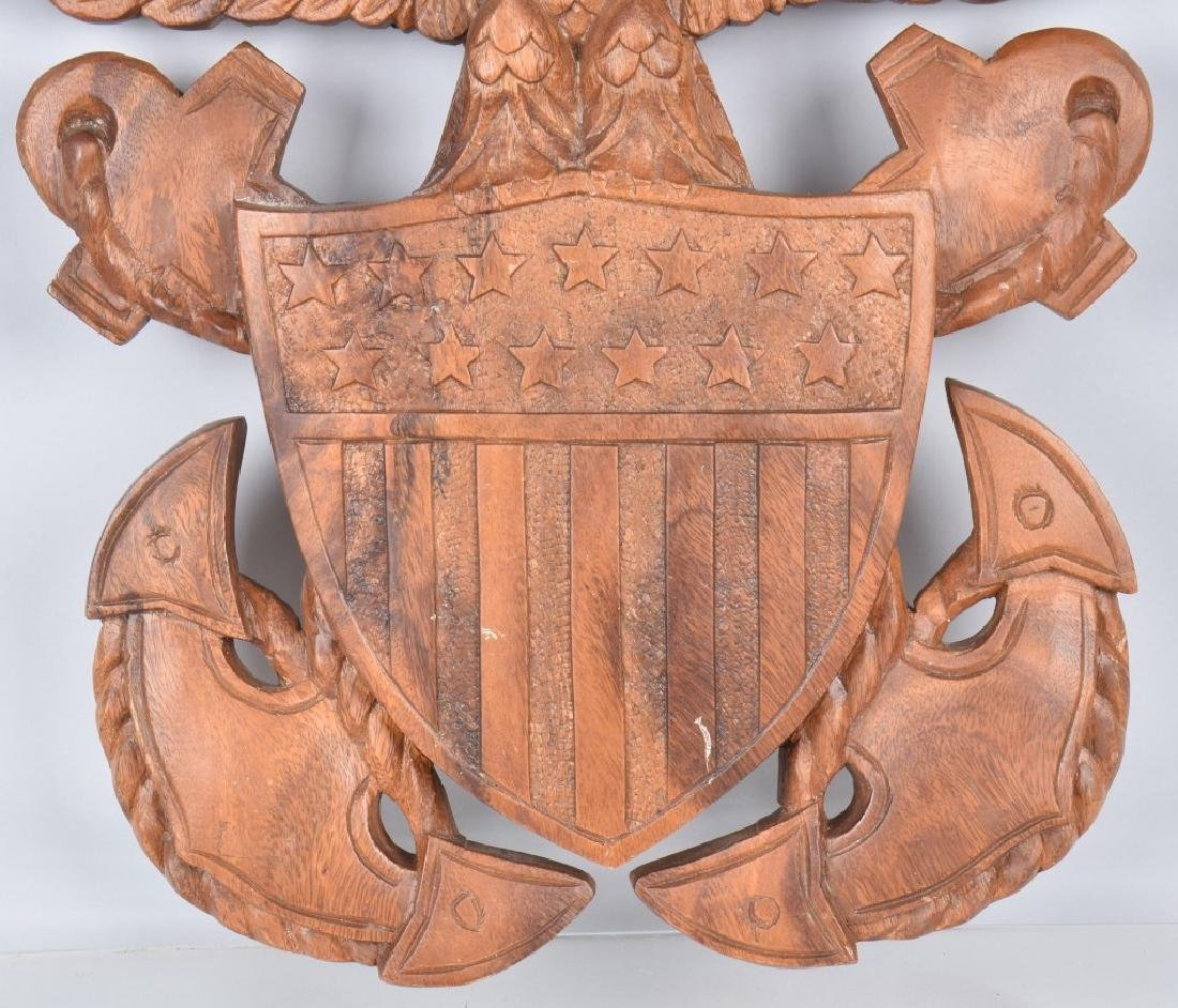 CARVED WOOD NAVY SYMBOL SUBIC BAY 1967 - 3