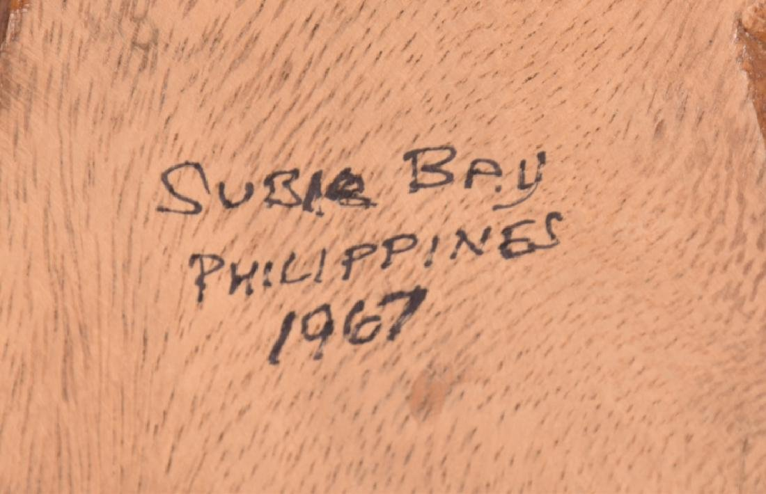 CARVED WOOD NAVY SYMBOL SUBIC BAY 1967 - 5