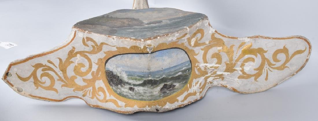 WHALE VERTEBRA PAINTED WITH OCEAN SCENE - 3