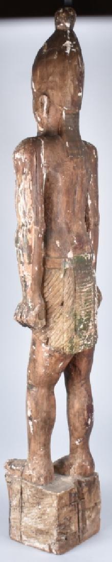 EGYPTIAN CARVED WOOD PLASTER COVERED SLAVE FIGURE - 10