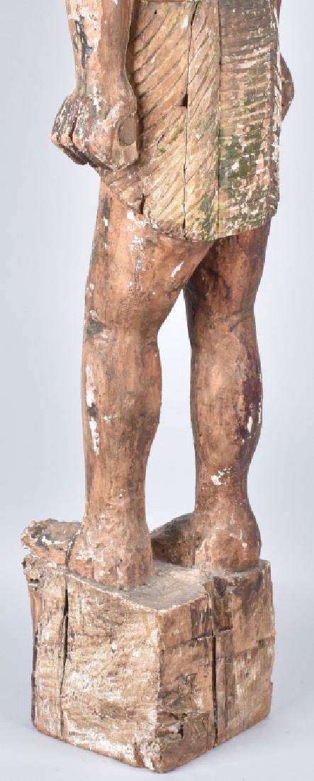 EGYPTIAN CARVED WOOD PLASTER COVERED SLAVE FIGURE - 13