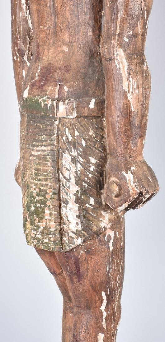 EGYPTIAN CARVED WOOD PLASTER COVERED SLAVE FIGURE - 4