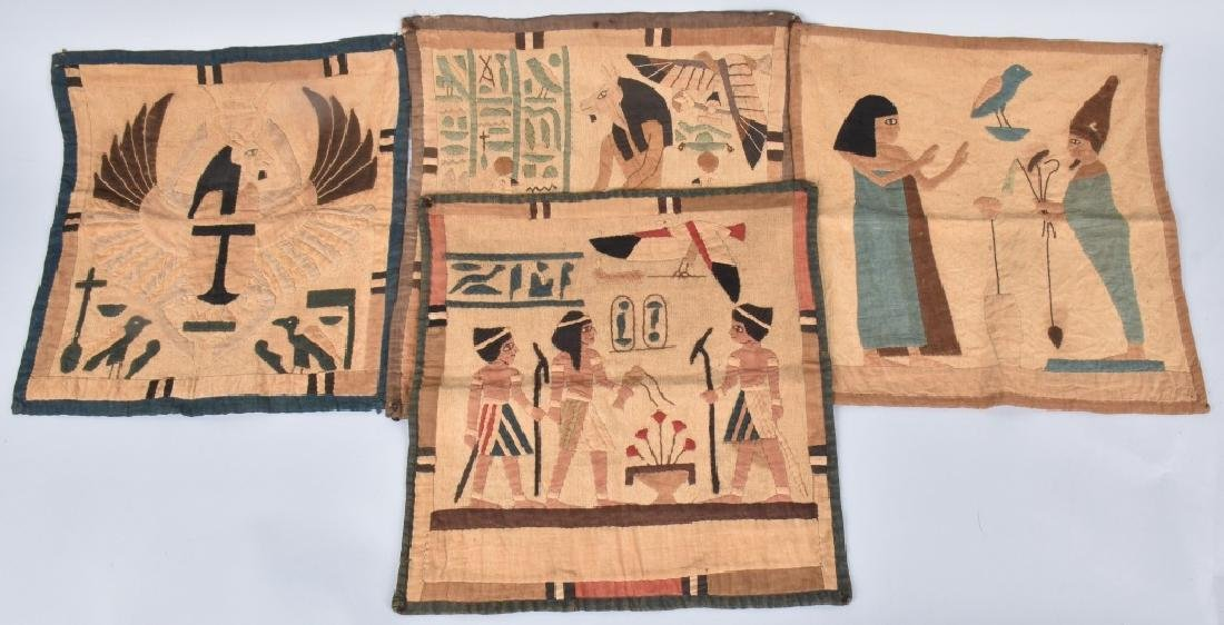 4- EARLY EGYPTIAN TAPESTRY w/ SCENES