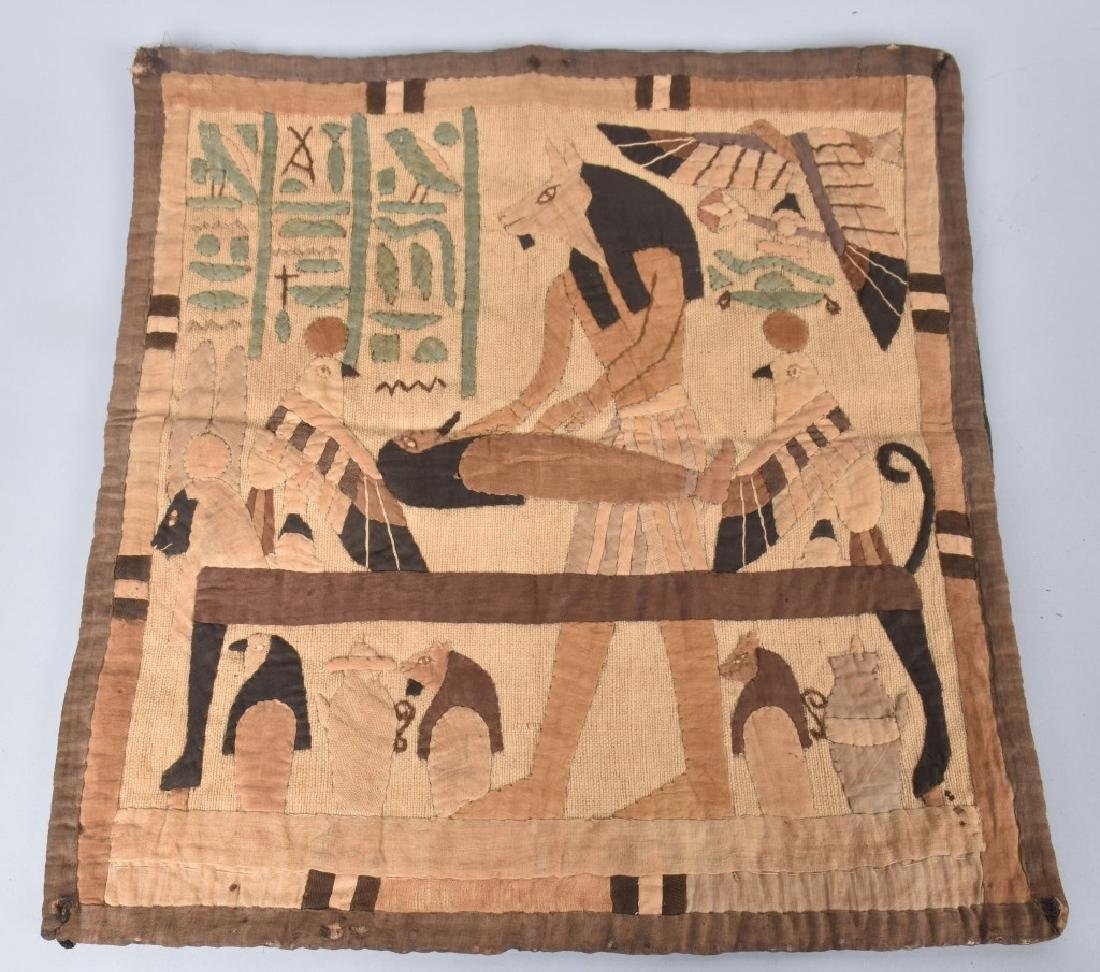 4- EARLY EGYPTIAN TAPESTRY w/ SCENES - 4
