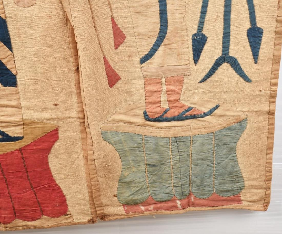 4- EARLY EGYPTIAN TAPESTRY w/ SCENES - 14