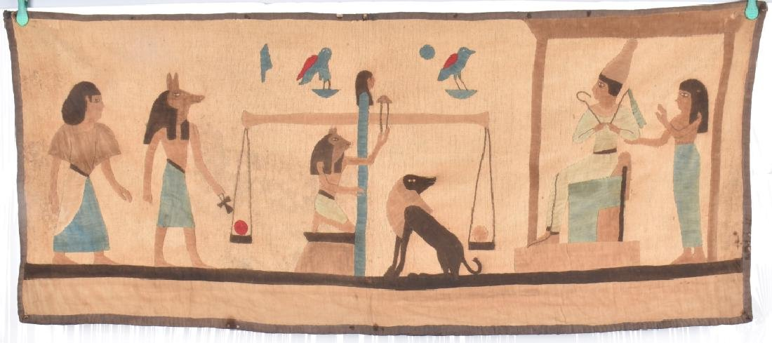 4- EARLY EGYPTIAN TAPESTRY w/ SCENES - 2
