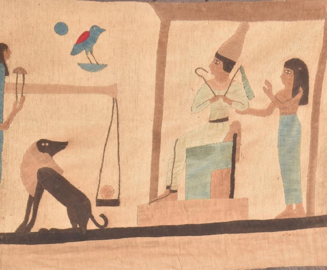 4- EARLY EGYPTIAN TAPESTRY w/ SCENES - 5