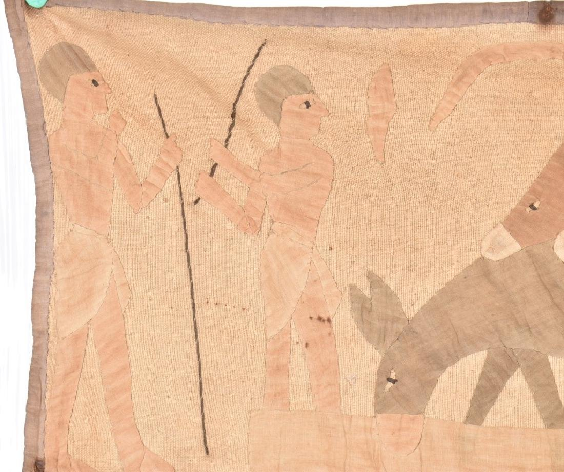 4- EARLY EGYPTIAN TAPESTRY w/ SCENES - 6