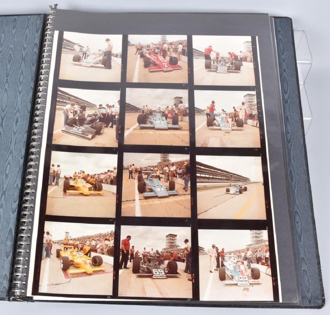 PHOTO ARCHIVE OF 1970s INDY RACE CARS & DRIVERS