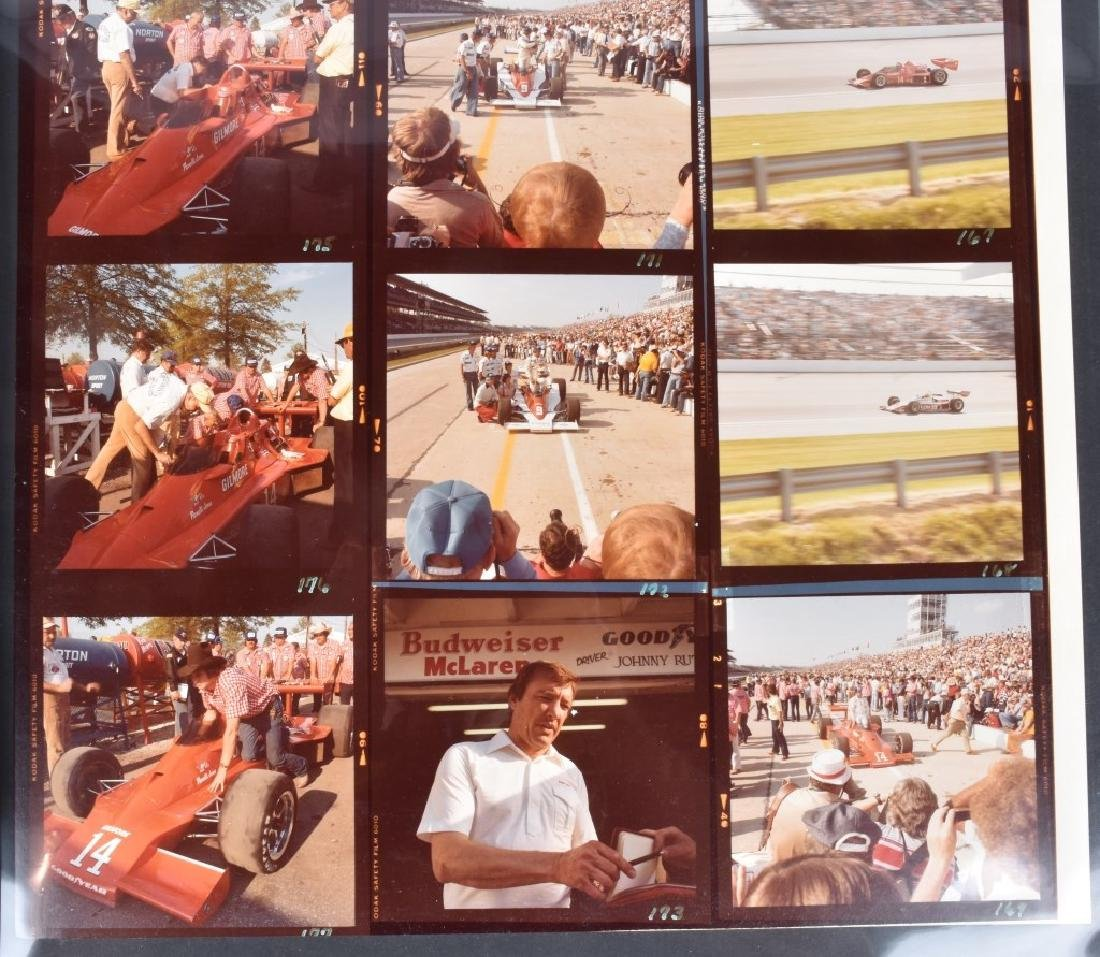 PHOTO ARCHIVE OF 1970s INDY RACE CARS & DRIVERS - 7
