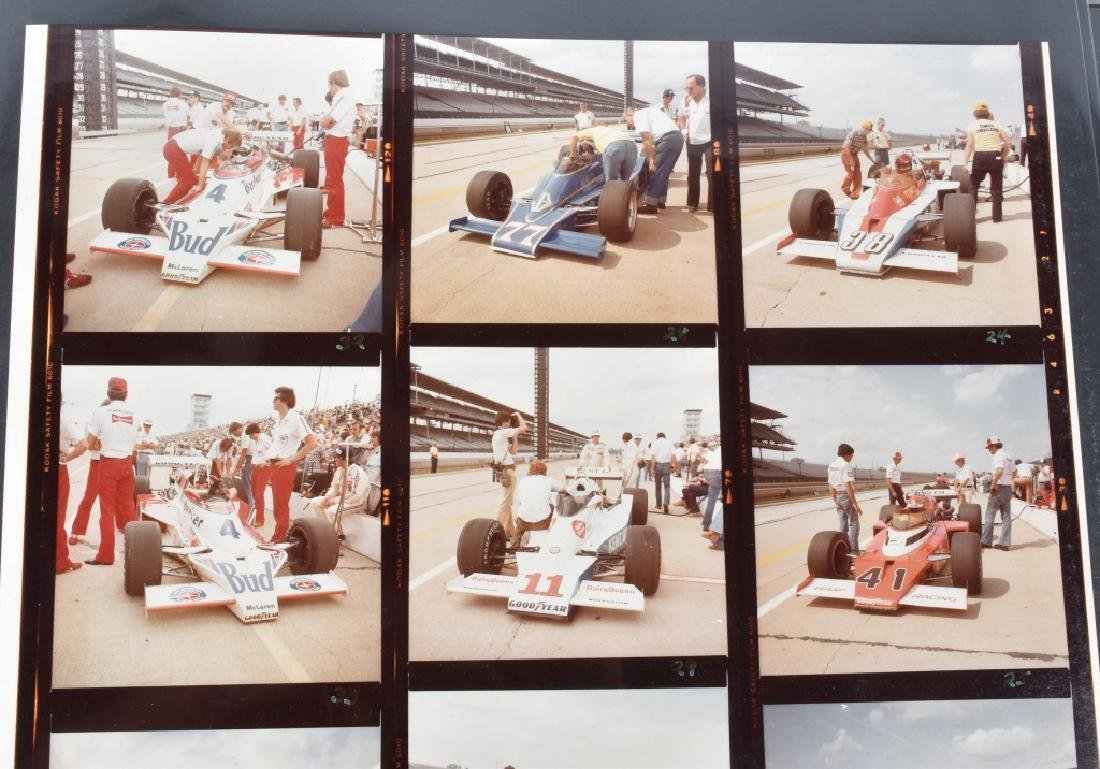 PHOTO ARCHIVE OF 1970s INDY RACE CARS & DRIVERS - 8