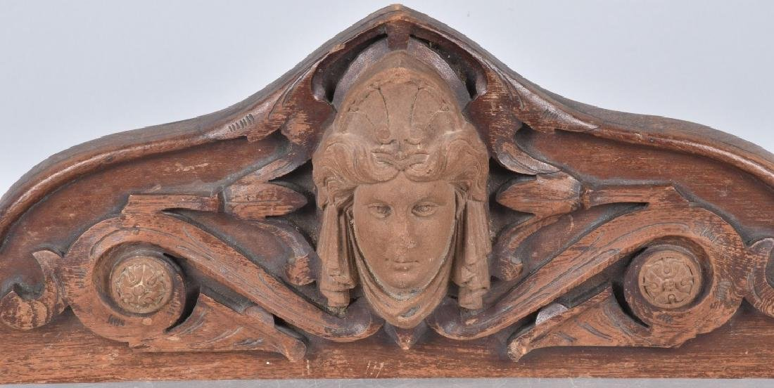 CARVED WOOD TOPPER w/ FACE - 2