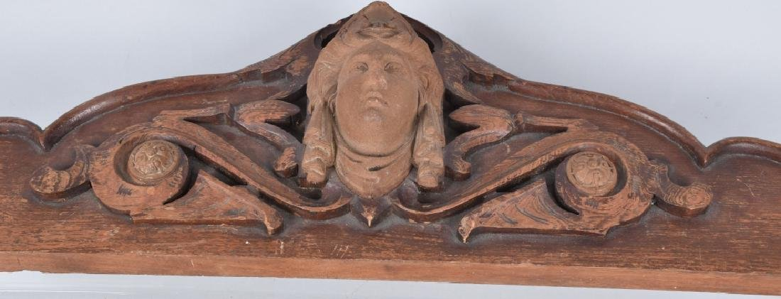 CARVED WOOD TOPPER w/ FACE - 4