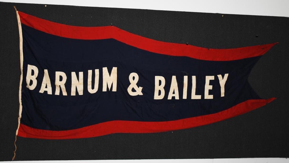 Late 1800s BARNUM & BAILEY 12' CIRCUS BANNER