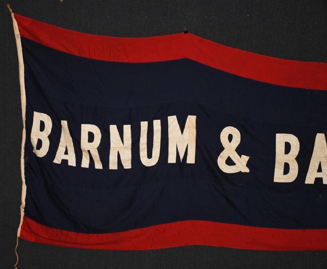 Late 1800s BARNUM & BAILEY 12' CIRCUS BANNER - 2