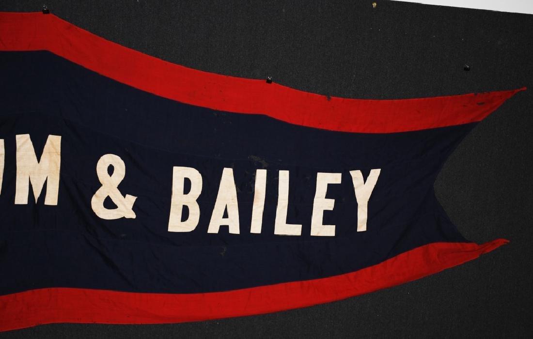 Late 1800s BARNUM & BAILEY 12' CIRCUS BANNER - 3