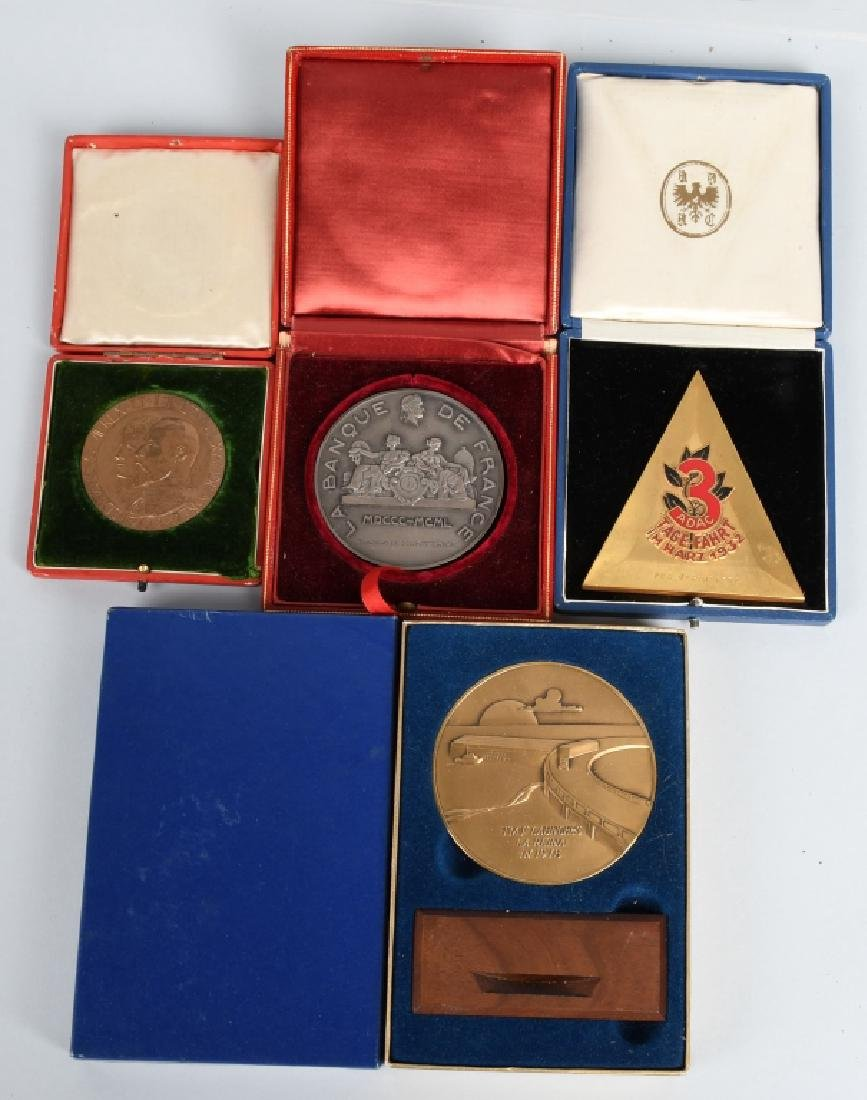 3- MEDALLION AWARDS w/ CASES