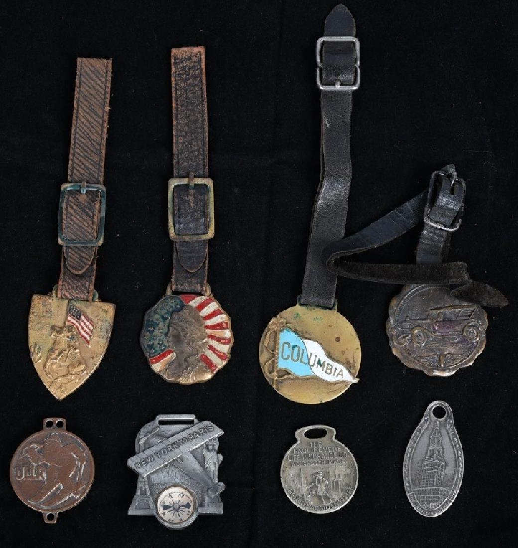 LOT OF VINTAGE WATCH FOBS