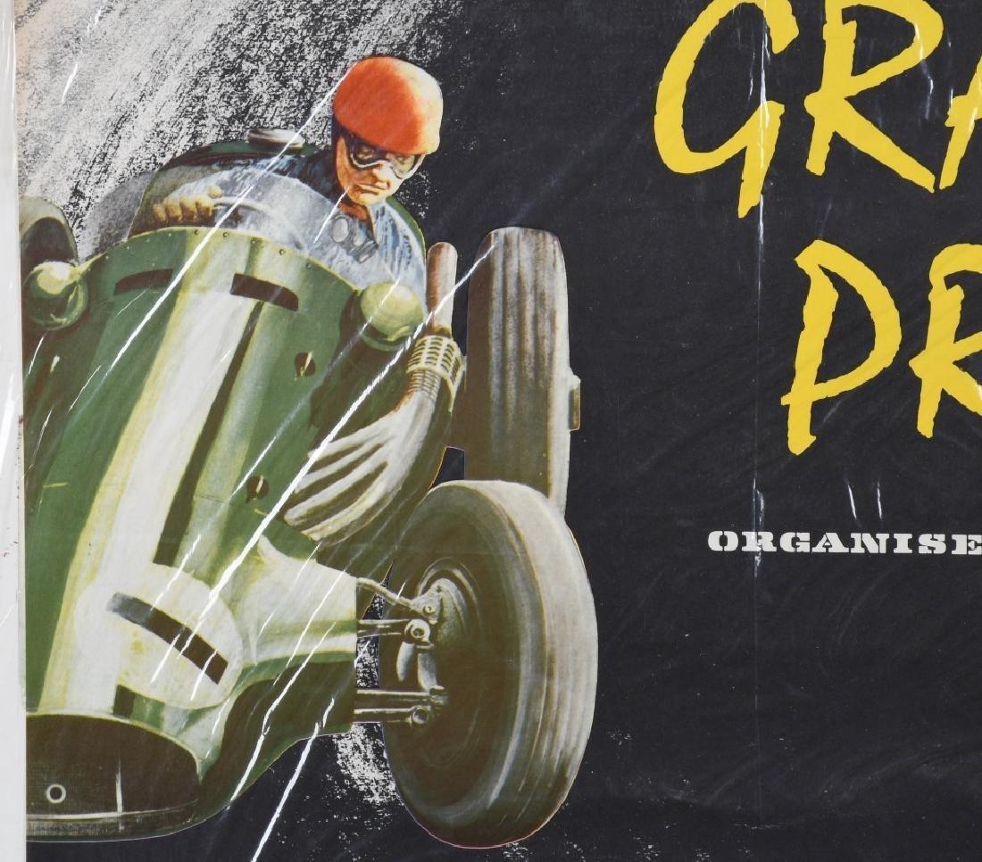 1958 SILVERSTONE GRAND PRIX CAR RACE POSTER - 3
