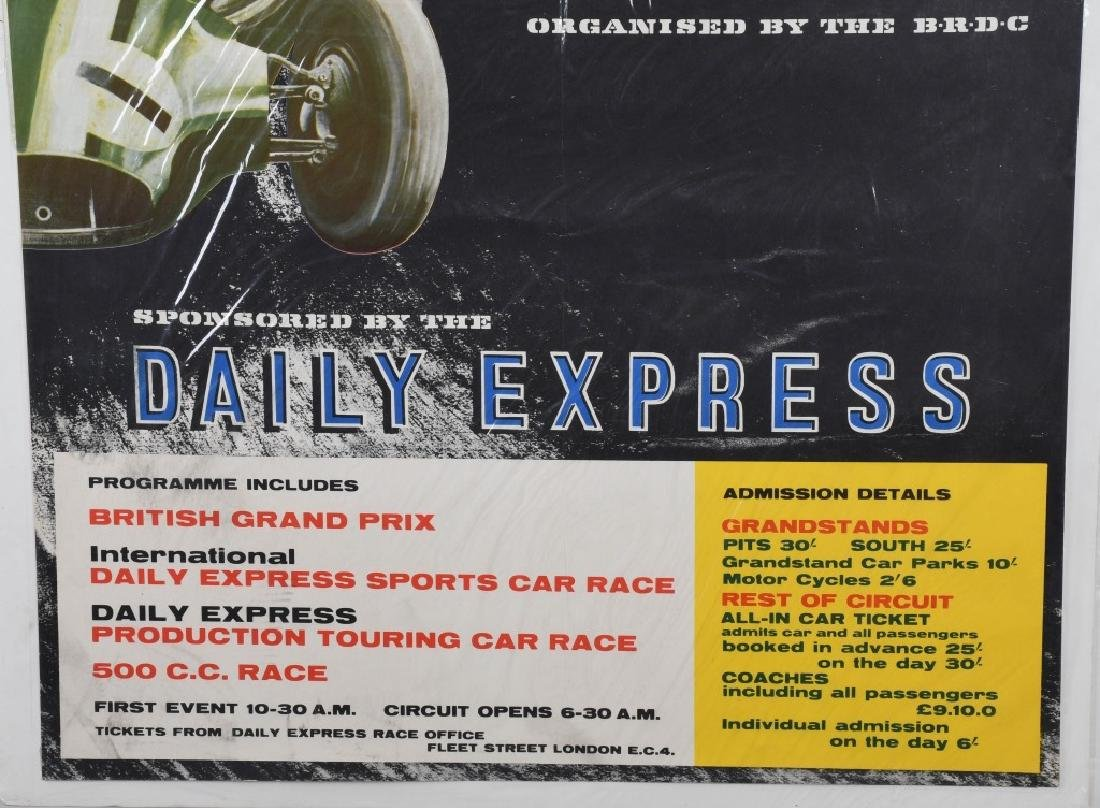 1958 SILVERSTONE GRAND PRIX CAR RACE POSTER - 4