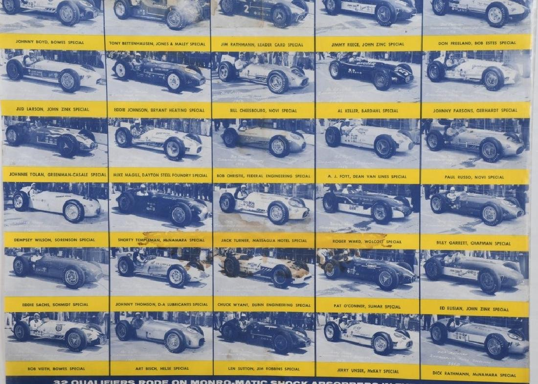 VINTAGE INDY 500 MONRO-MATIC ADVERTISING POSTER - 4