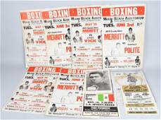 LOT OF VINTAGE BOXING POSTERS w/ MUHAMMAD ALI