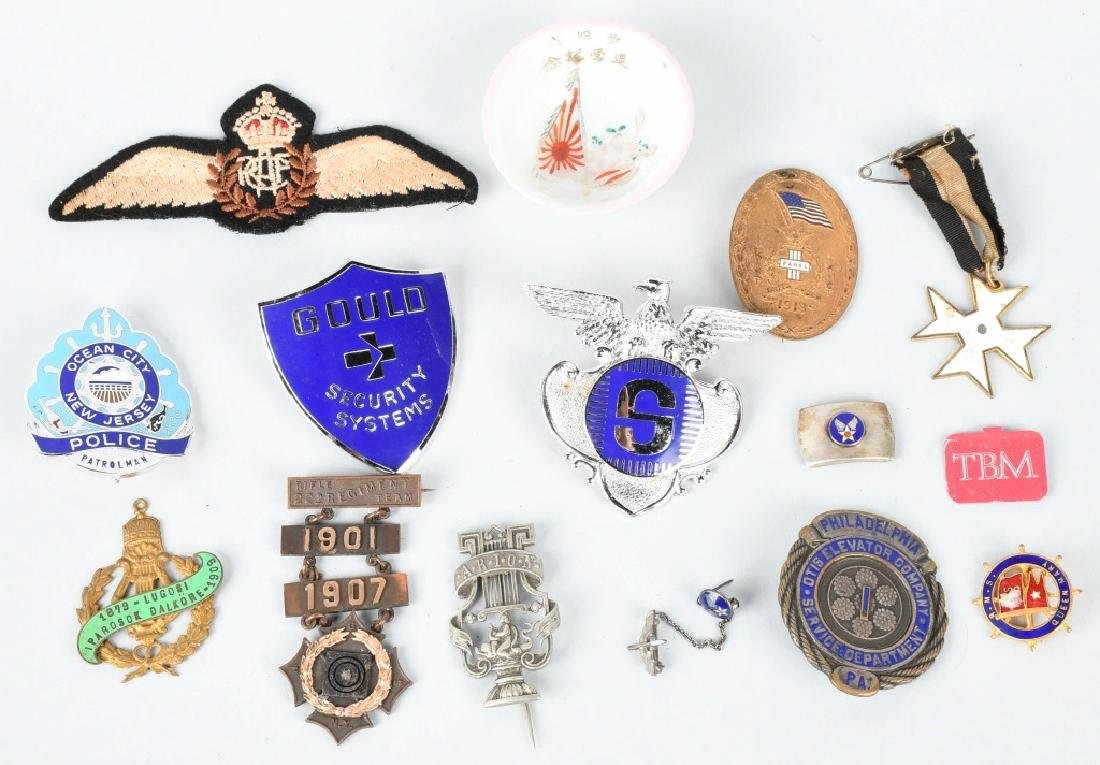 LOT OF MILITARY BADGES, PINS, PATCHES, & MORE - 5