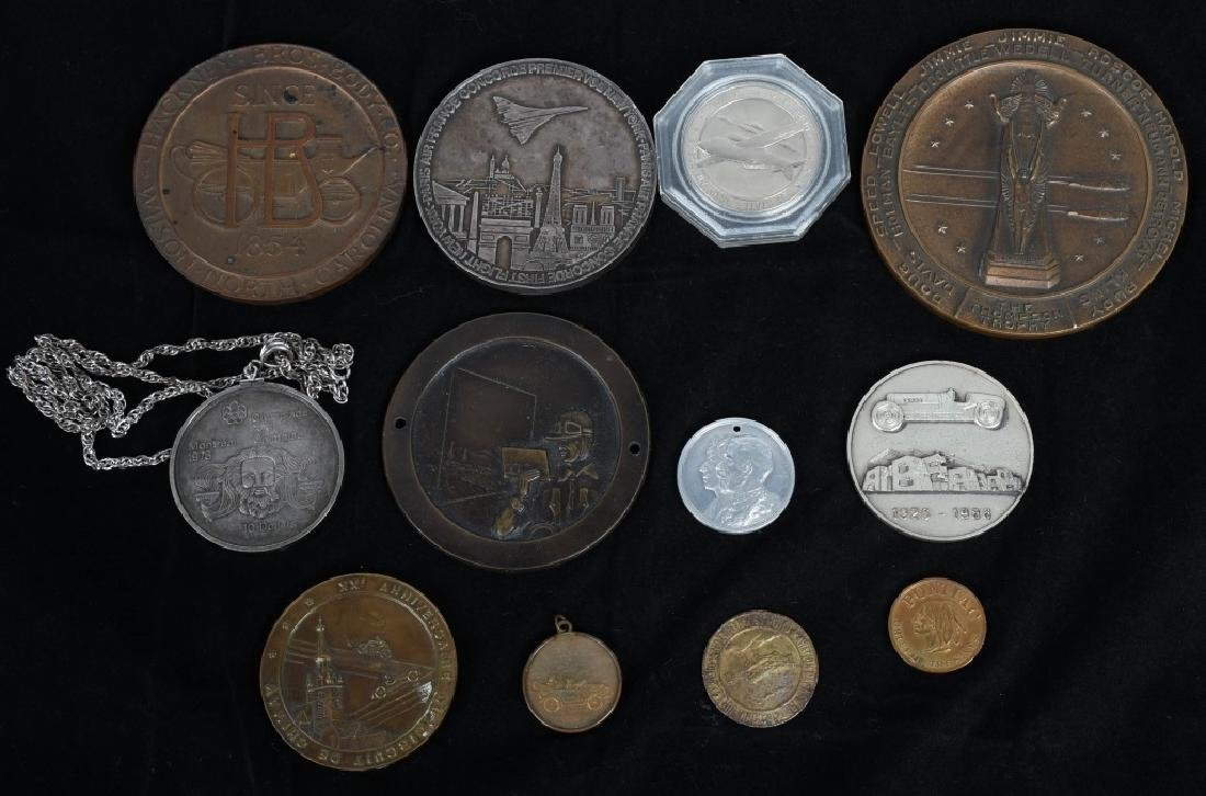 LOT OF MEDALLIONS & TOKENS