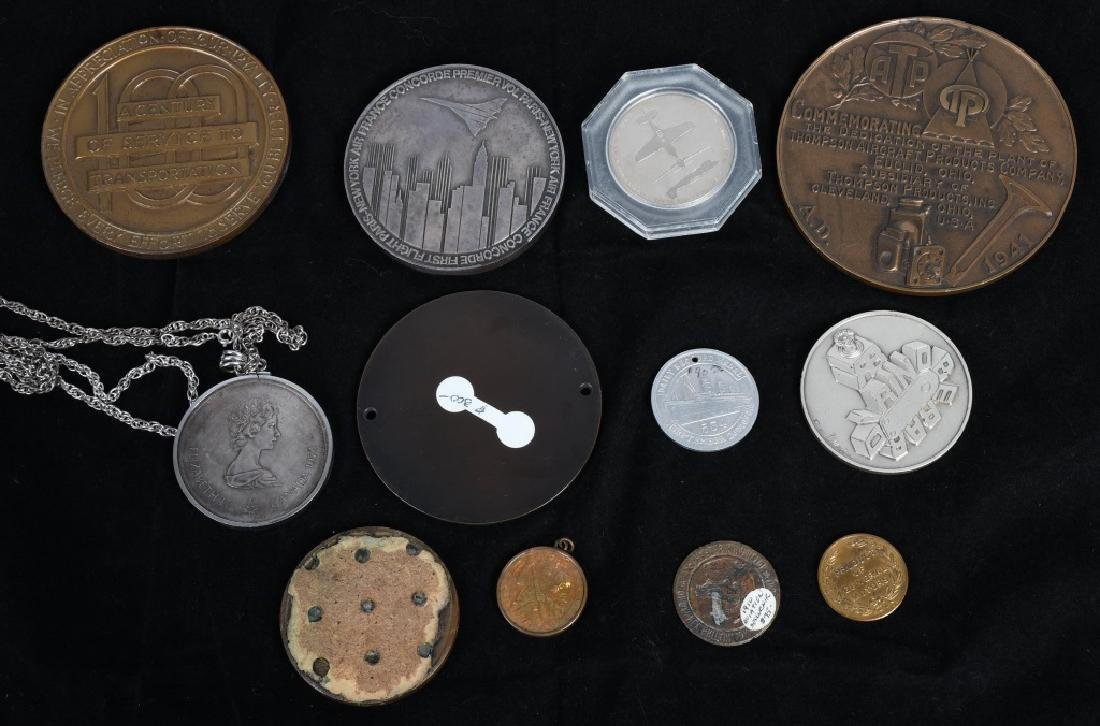 LOT OF MEDALLIONS & TOKENS - 8