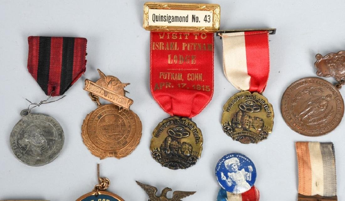 LOT OF MEDALS WITH RIBBONS - 2