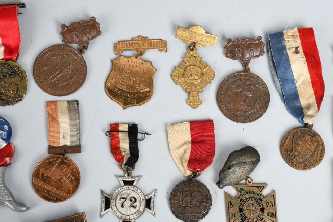 LOT OF MEDALS WITH RIBBONS - 4
