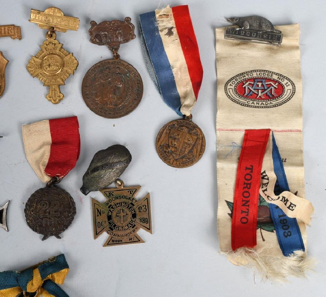 LOT OF MEDALS WITH RIBBONS - 6