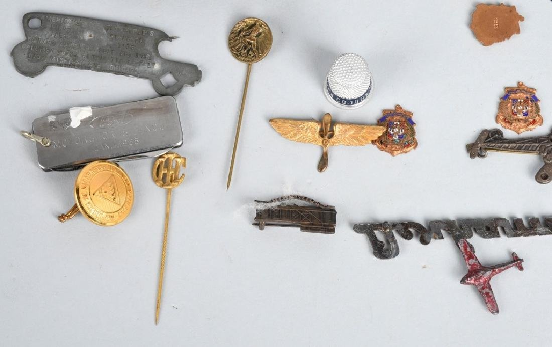 LOT OF VINTAGE PINS, CHARMS, STICK PINS, & MORE - 6