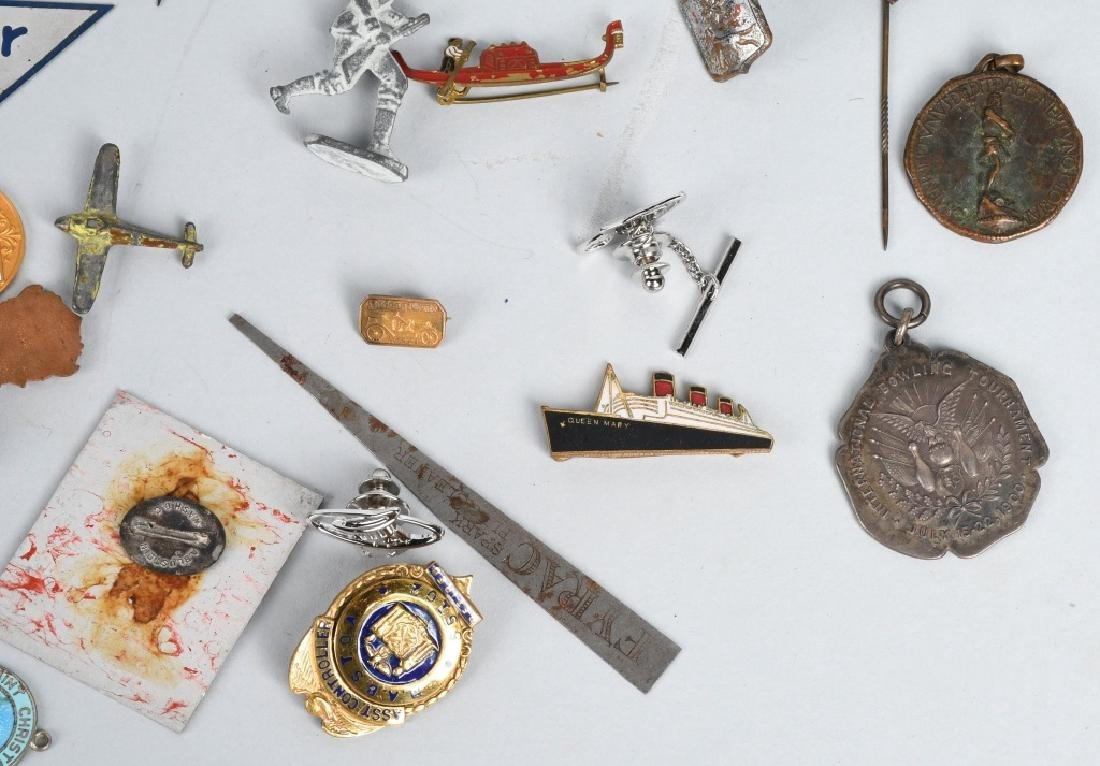 LOT OF VINTAGE PINS, CHARMS, STICK PINS, & MORE - 7