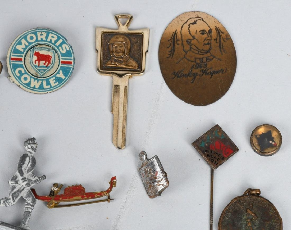 LOT OF VINTAGE PINS, CHARMS, STICK PINS, & MORE - 8