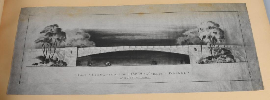 NEW YORK TRIBOROUGH BRIDGE ARCHITECTURAL DRAWINGS - 4