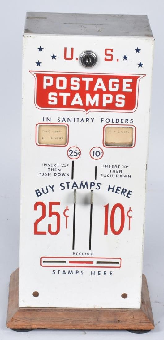 10 & 25 CENT U.S. POSTAGE STAMP VENDOR