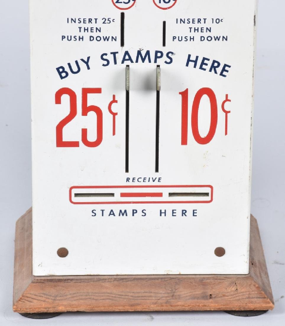 10 & 25 CENT U.S. POSTAGE STAMP VENDOR - 3