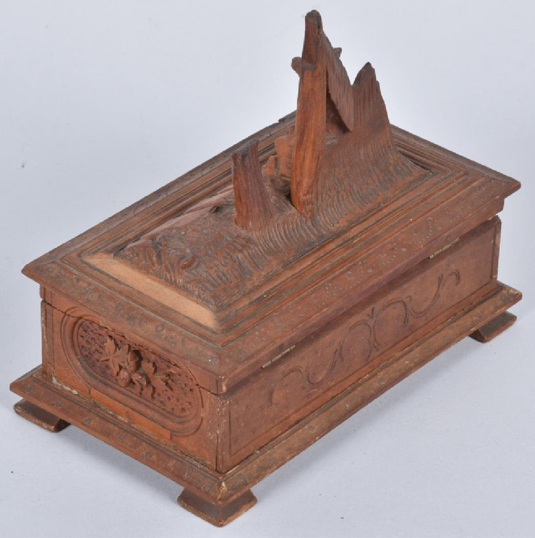 BLACK FOREST CARVED MUSIC BOX - 6