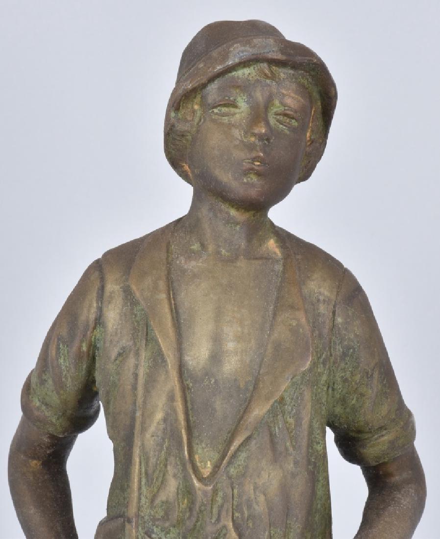 SETH THOMAS WHISTLING BOY CAST METAL CLOCK - 2